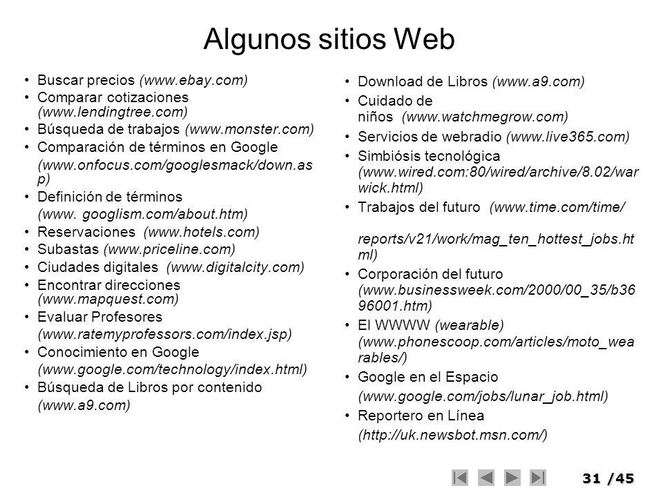 Algunos sitios Web Buscar precios (www.ebay.com)