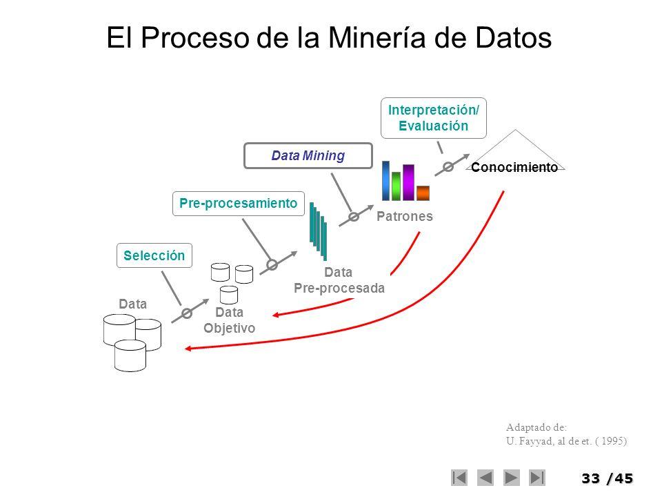 El Proceso de la Minería de Datos