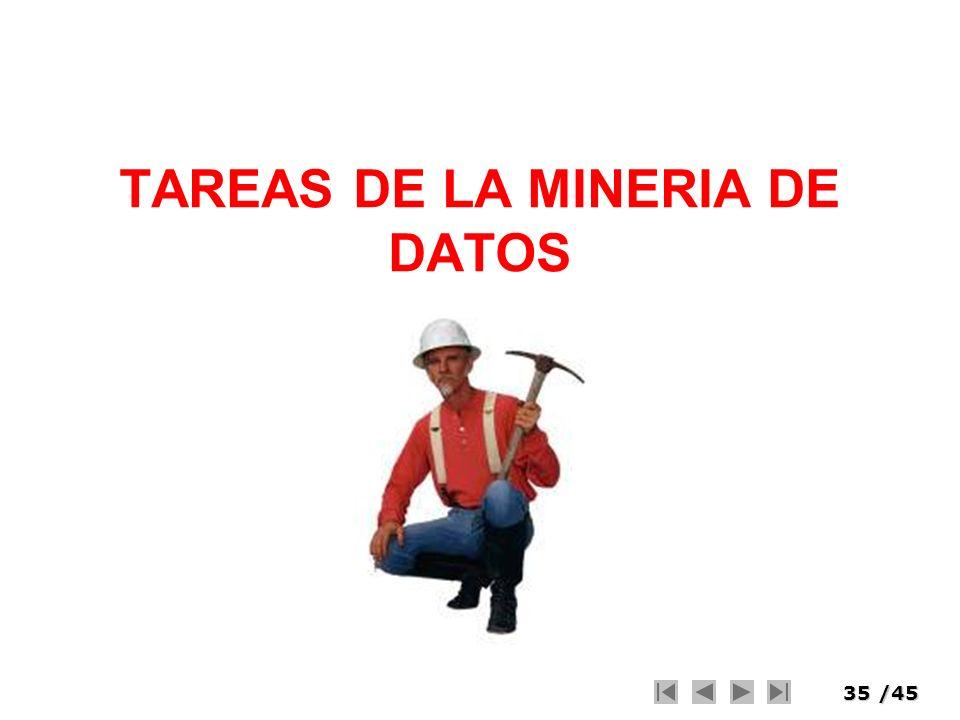 TAREAS DE LA MINERIA DE DATOS
