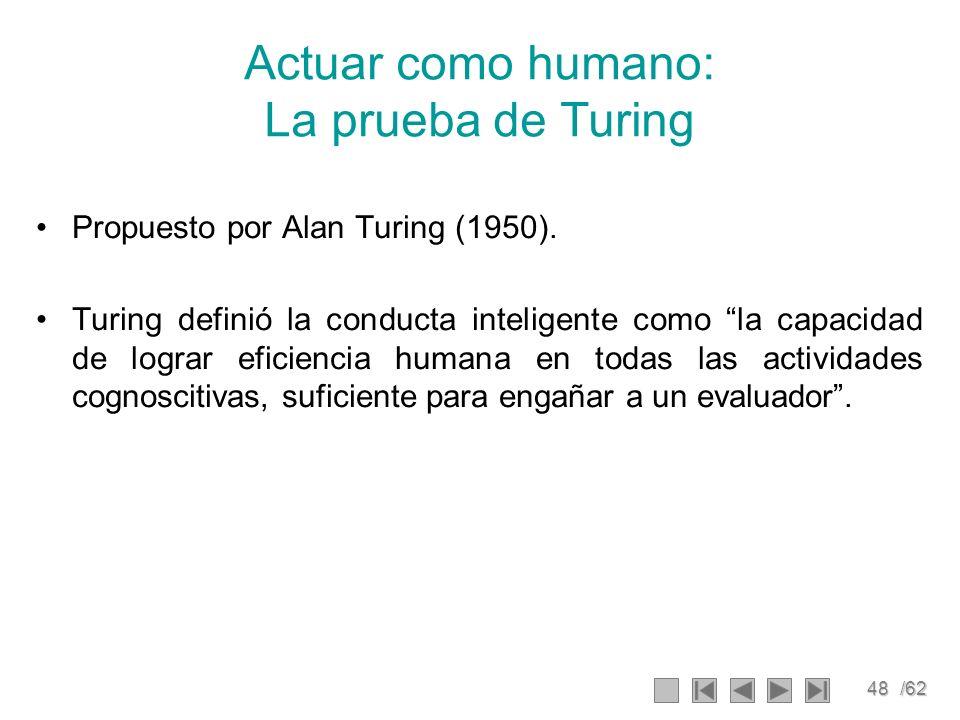 Actuar como humano: La prueba de Turing