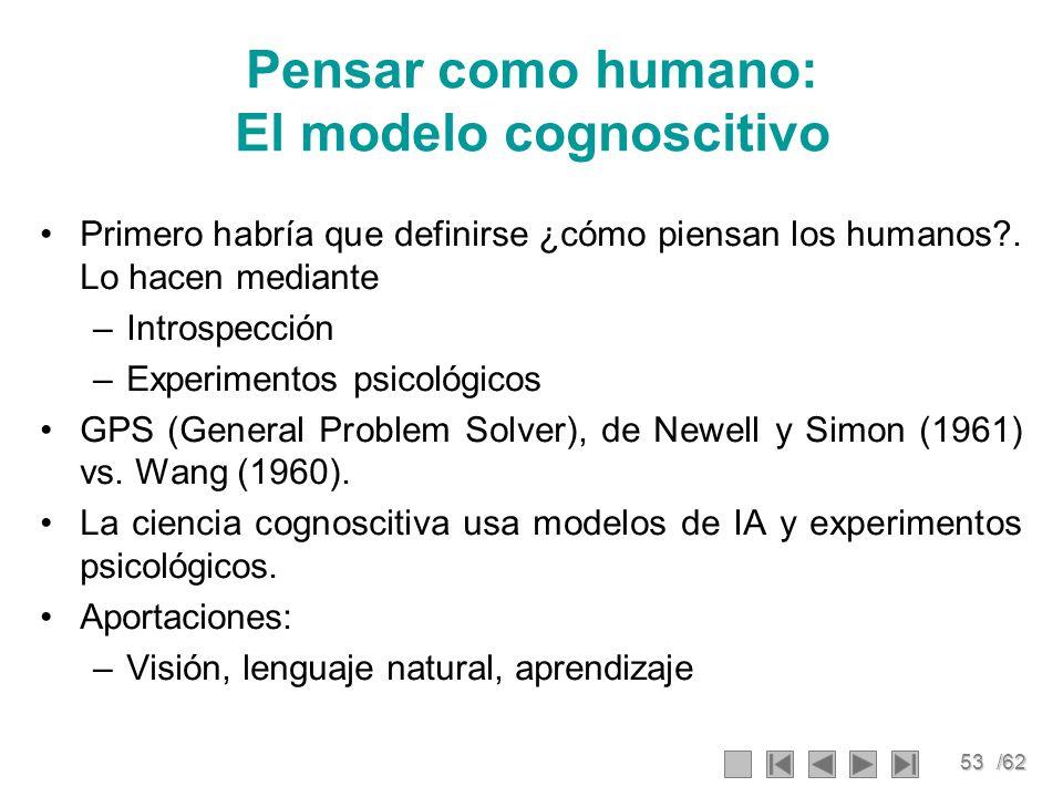 Pensar como humano: El modelo cognoscitivo