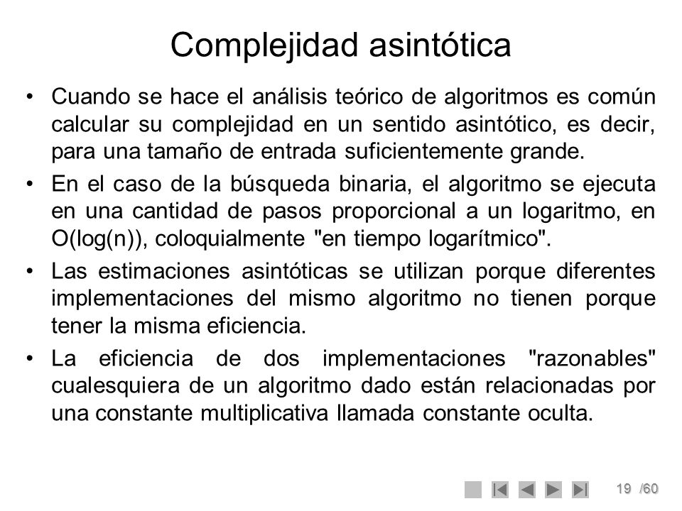 Complejidad asintótica