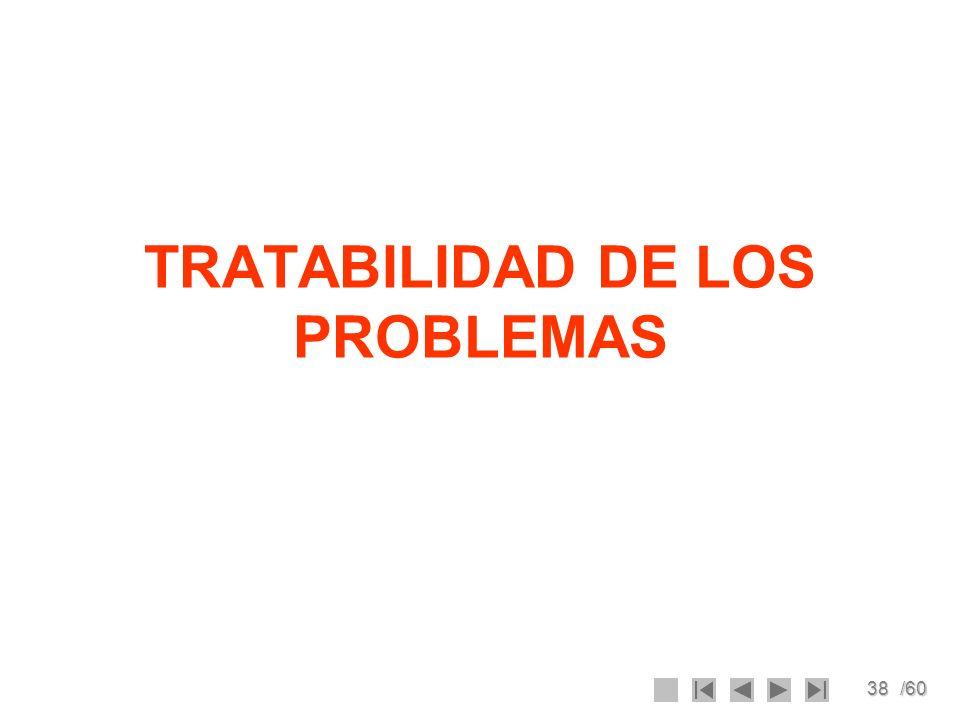 TRATABILIDAD DE LOS PROBLEMAS