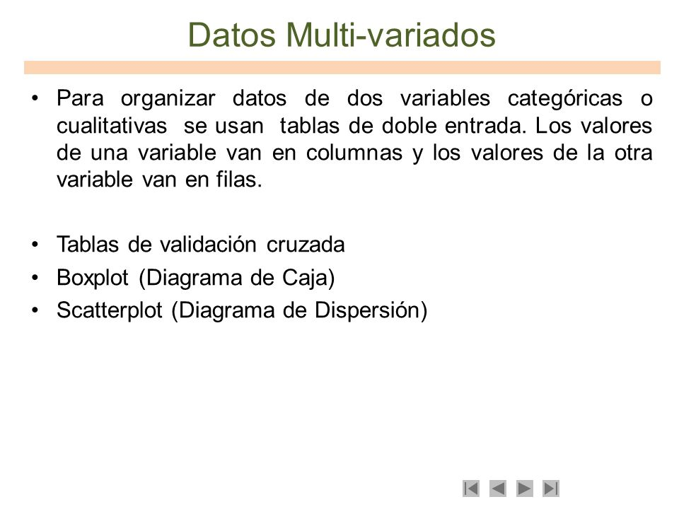 Datos Multi-variados