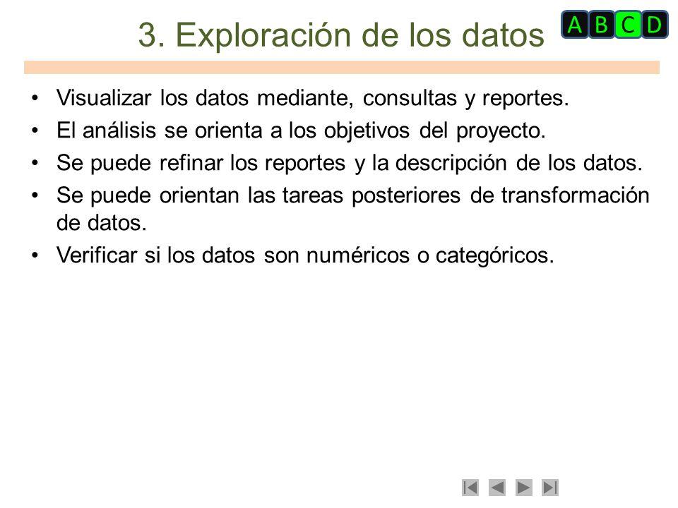 3. Exploración de los datos