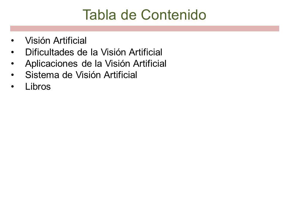 Tabla de Contenido Visión Artificial