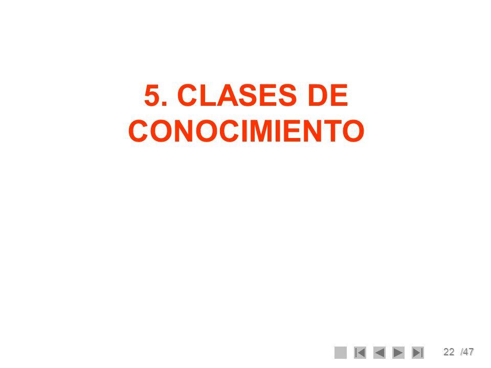 5. CLASES DE CONOCIMIENTO