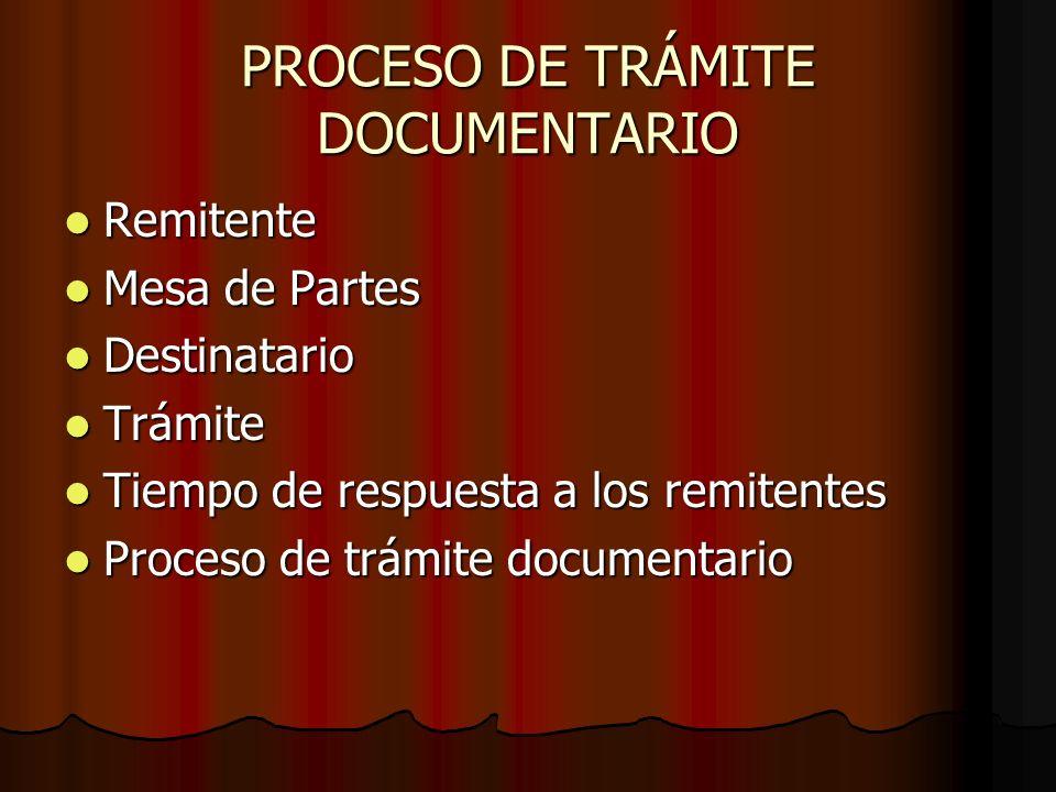 PROCESO DE TRÁMITE DOCUMENTARIO