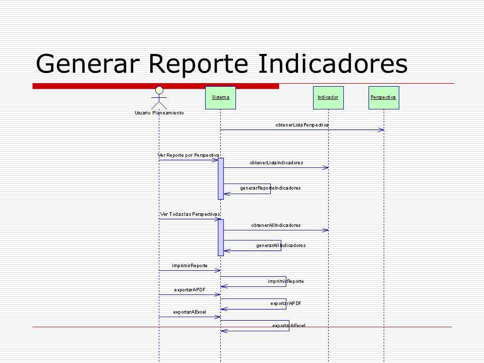 Generar Reporte Indicadores