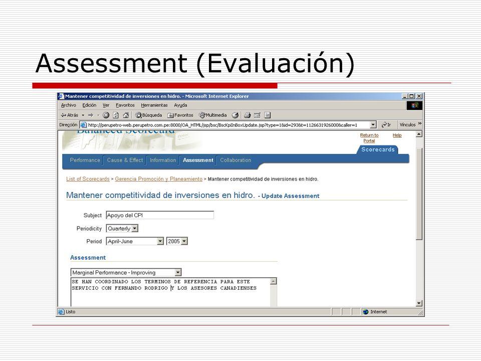 Assessment (Evaluación)