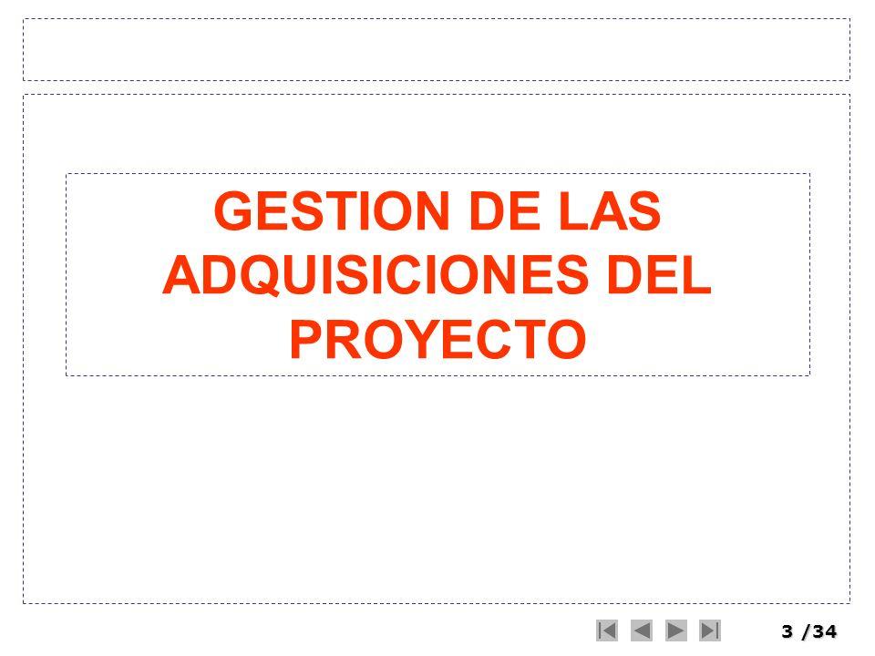 GESTION DE LAS ADQUISICIONES DEL PROYECTO