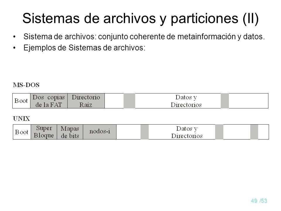 Sistemas de archivos y particiones (II)