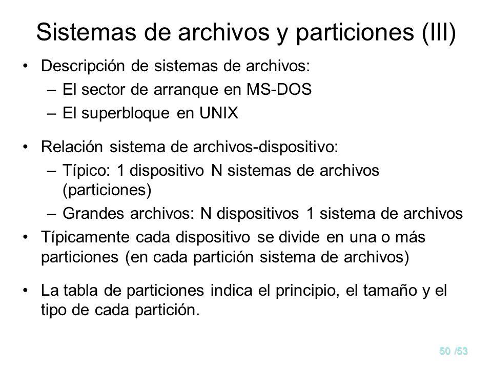 Sistemas de archivos y particiones (III)