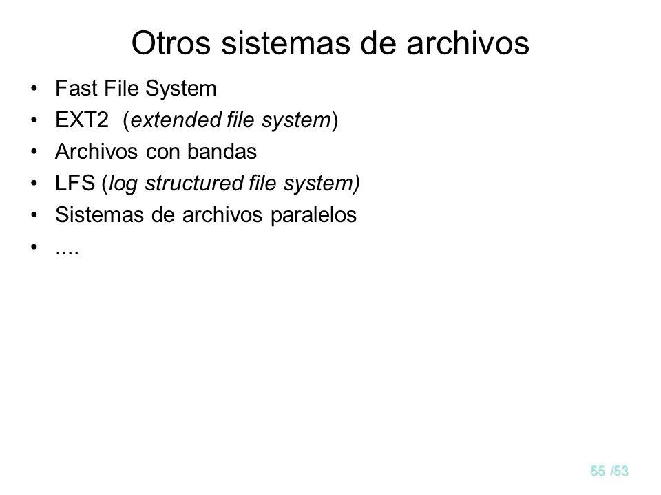 Otros sistemas de archivos