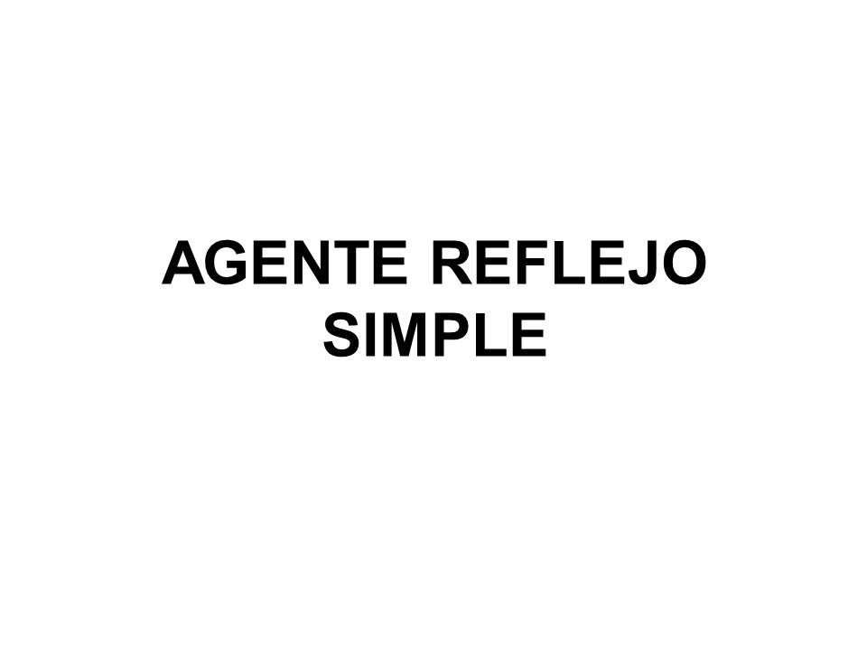 AGENTE REFLEJO SIMPLE