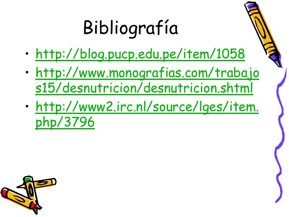 Bibliografía http://blog.pucp.edu.pe/item/1058