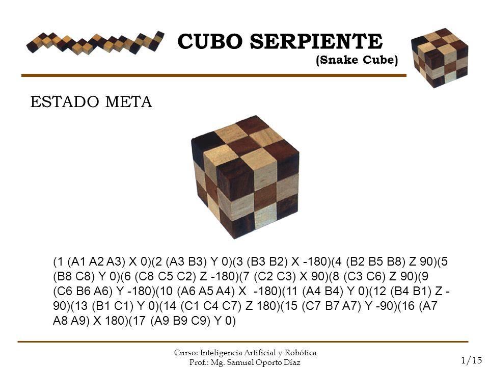 CUBO SERPIENTE ESTADO META (Snake Cube)