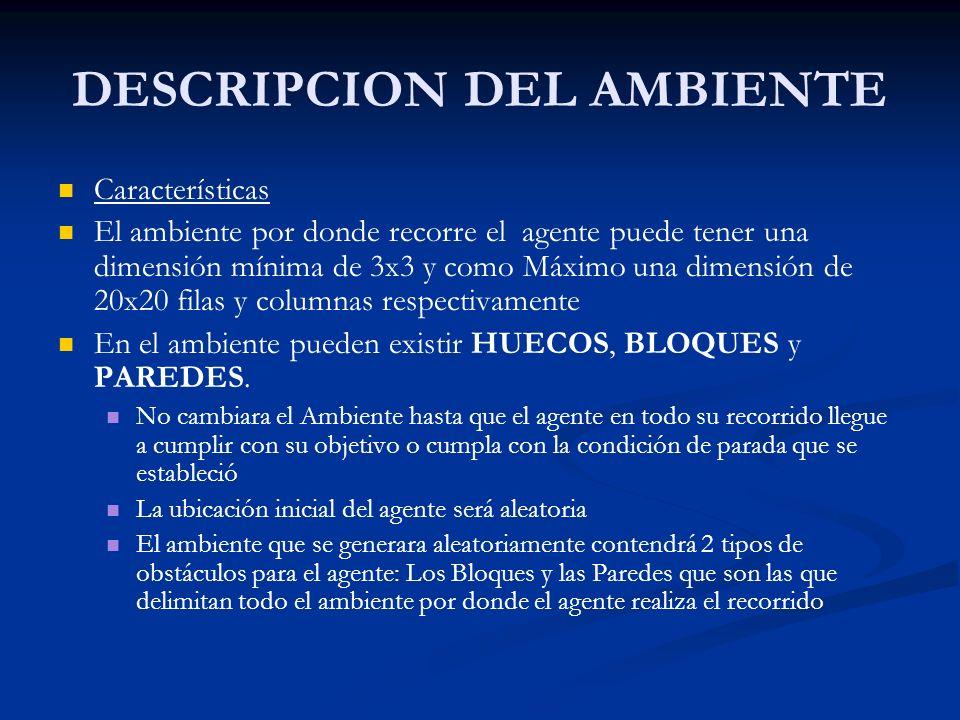 DESCRIPCION DEL AMBIENTE