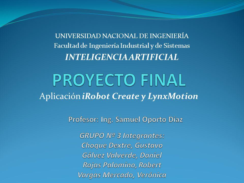 Aplicación iRobot Create y LynxMotion