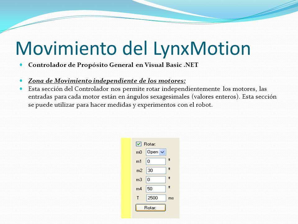 Movimiento del LynxMotion