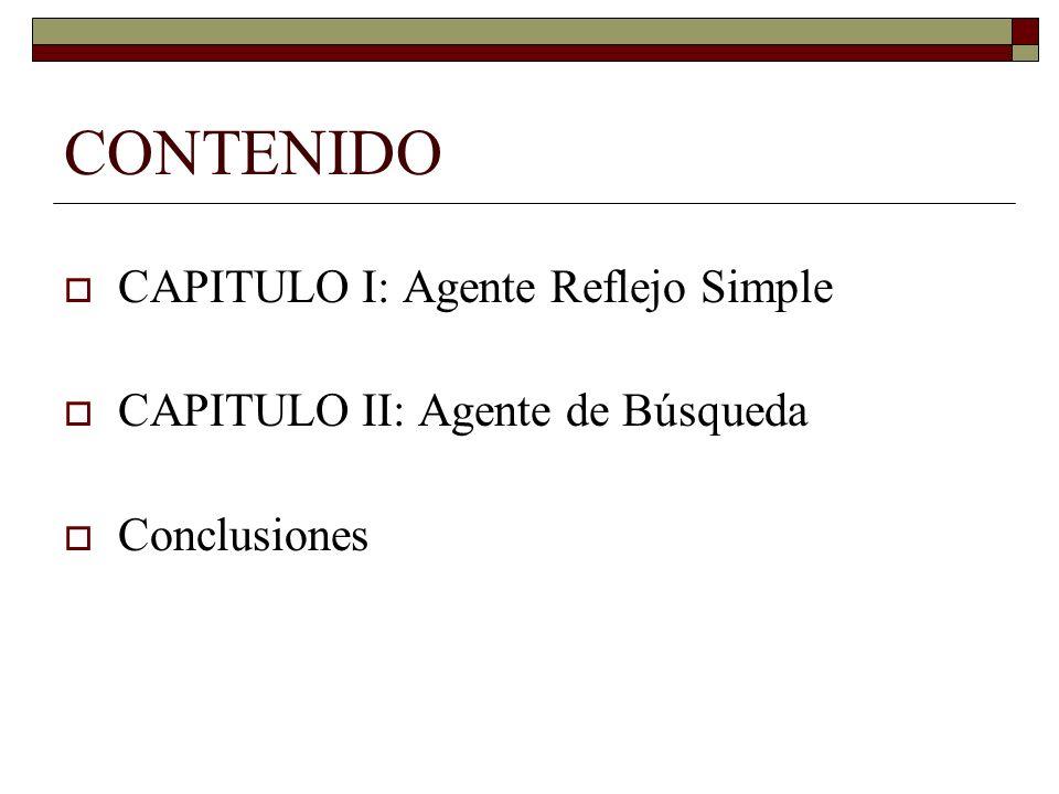 CONTENIDO CAPITULO I: Agente Reflejo Simple