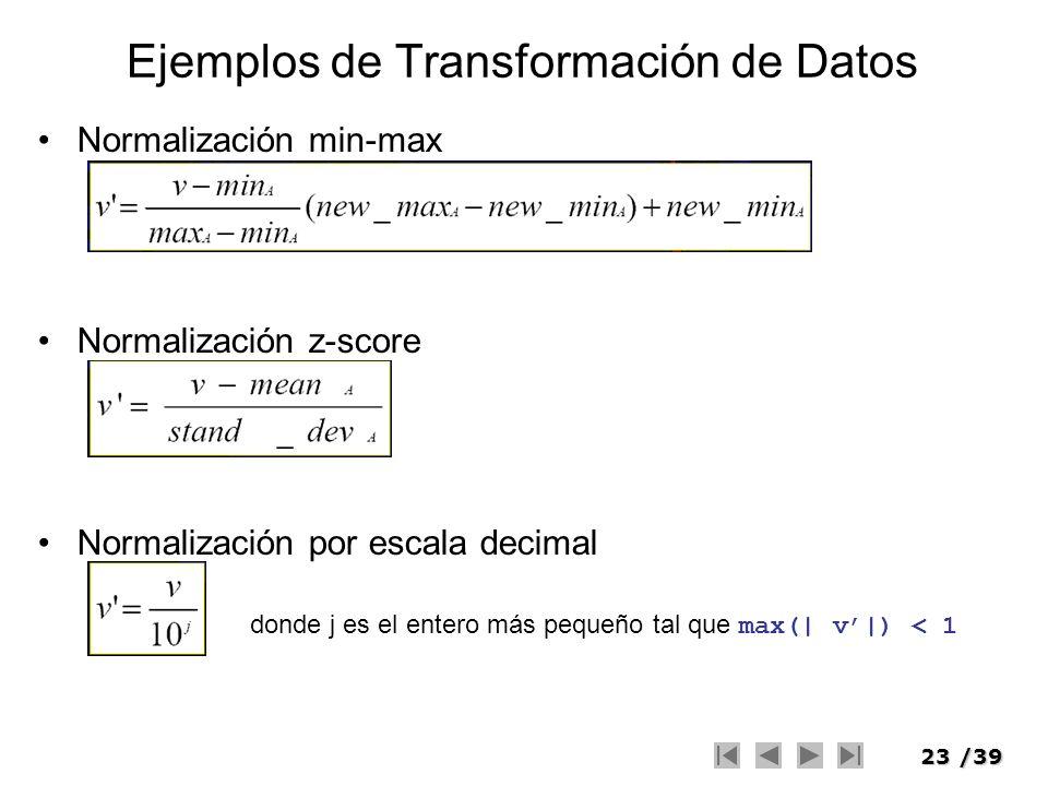 Ejemplos de Transformación de Datos
