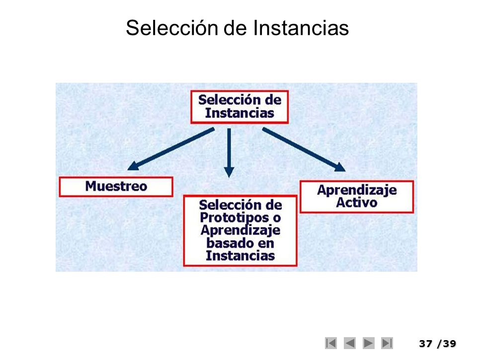 Selección de Instancias