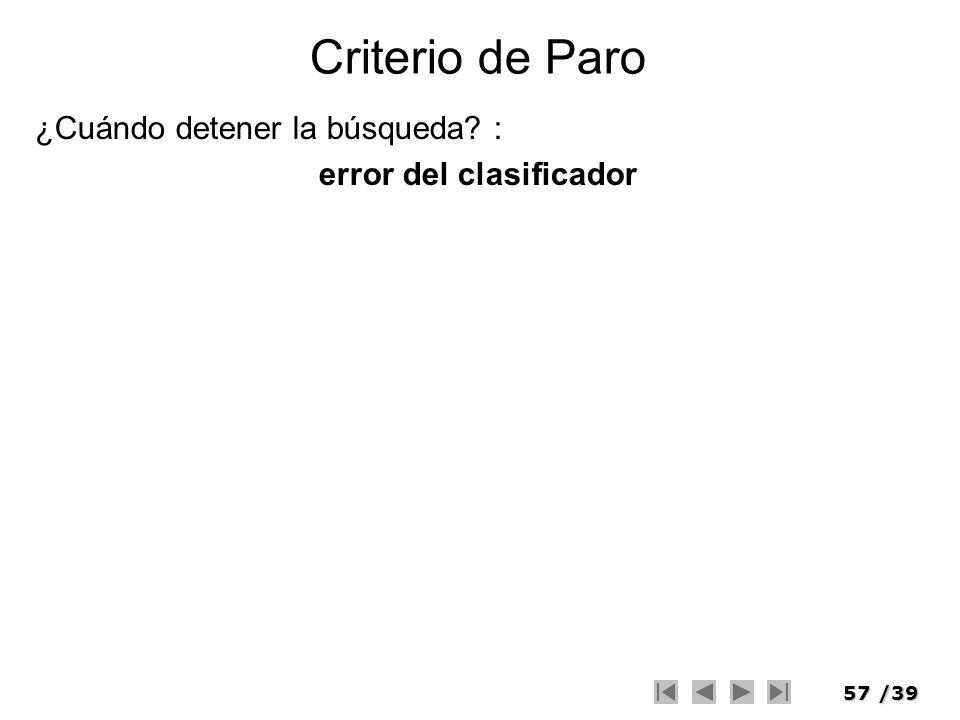 error del clasificador