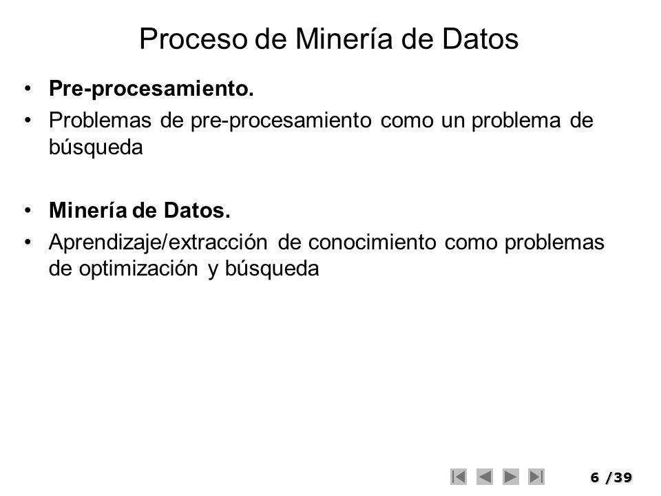 Proceso de Minería de Datos