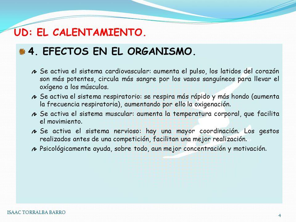 4. EFECTOS EN EL ORGANISMO.