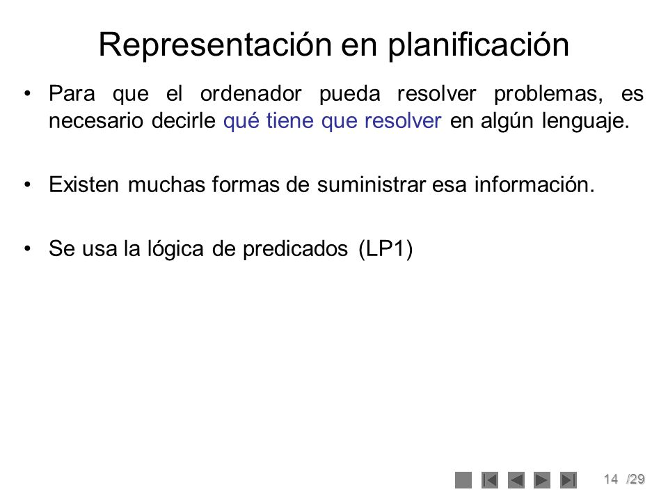 Representación en planificación