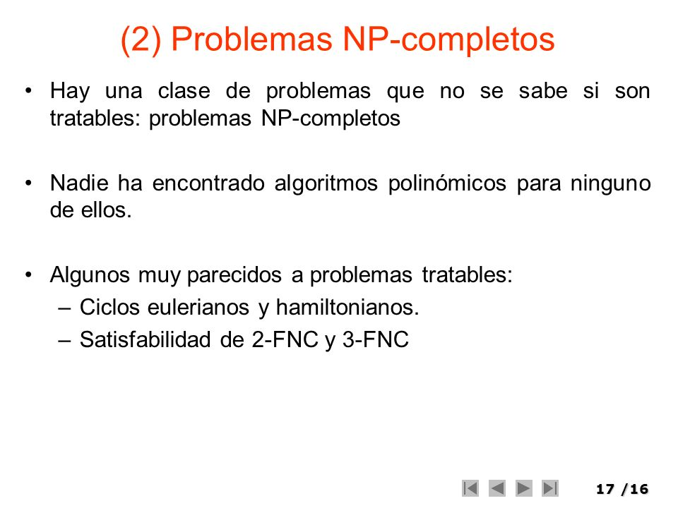 (2) Problemas NP-completos