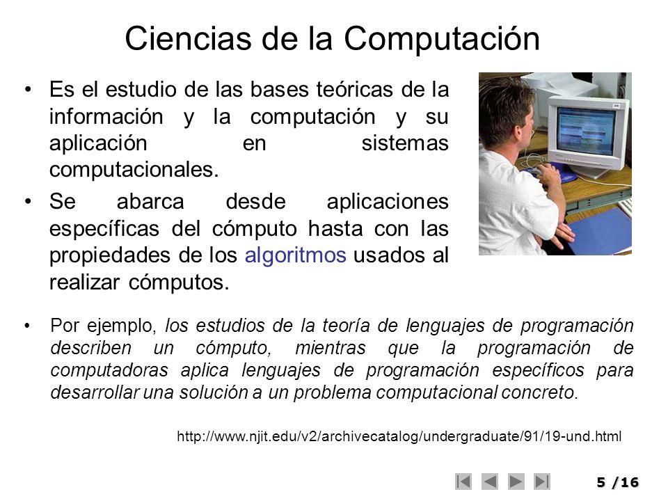 Ciencias de la Computación