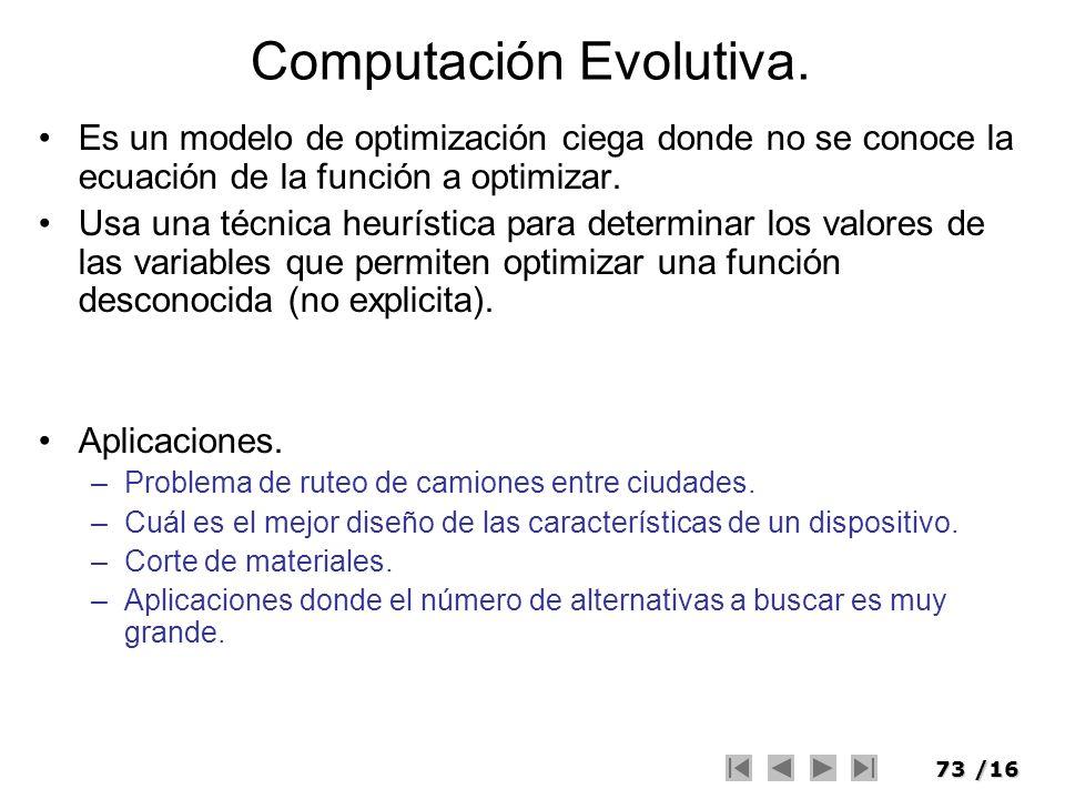 Computación Evolutiva.