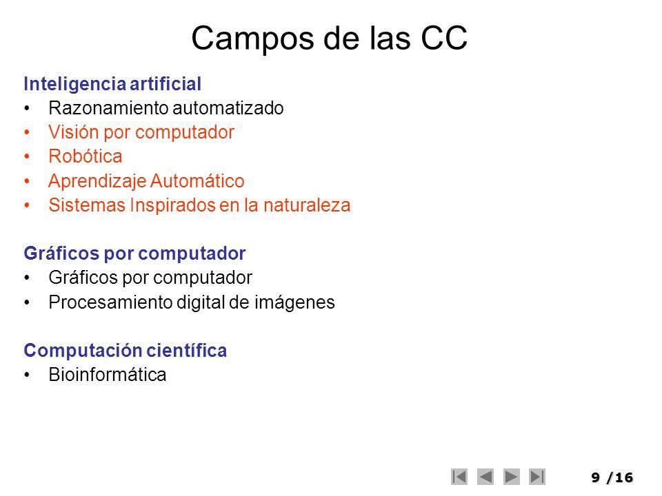 Campos de las CC Inteligencia artificial Razonamiento automatizado