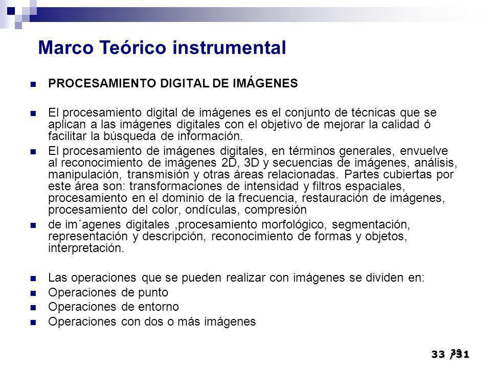 Marco Teórico instrumental