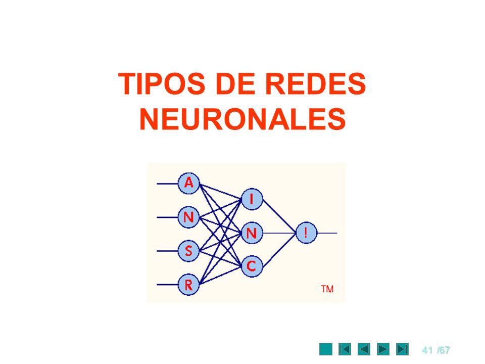TIPOS DE REDES NEURONALES
