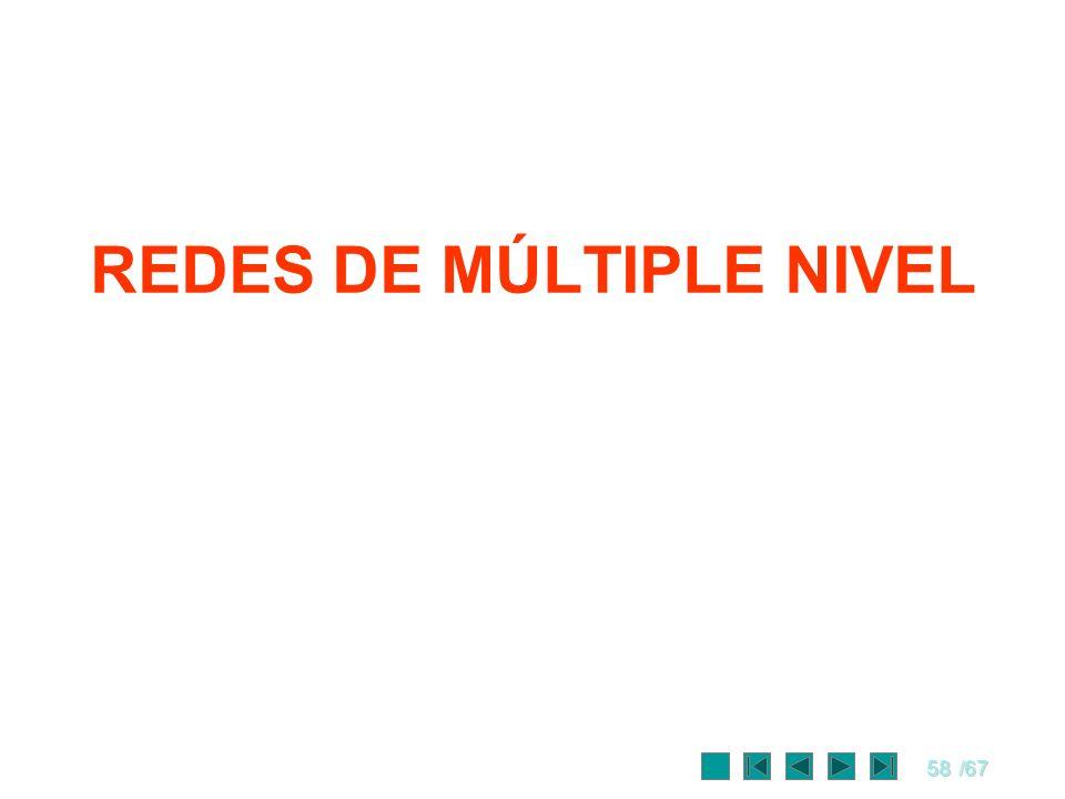 REDES DE MÚLTIPLE NIVEL