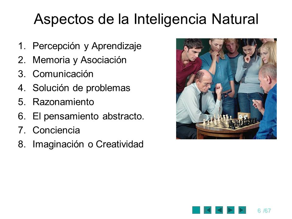 Aspectos de la Inteligencia Natural