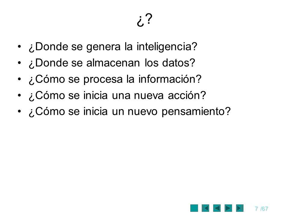 ¿ ¿Donde se genera la inteligencia ¿Donde se almacenan los datos