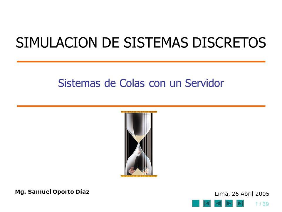 Sistemas de Colas con un Servidor