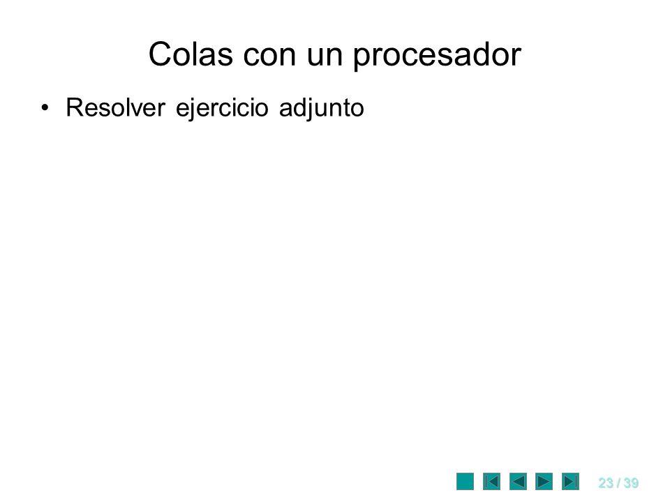 Colas con un procesador
