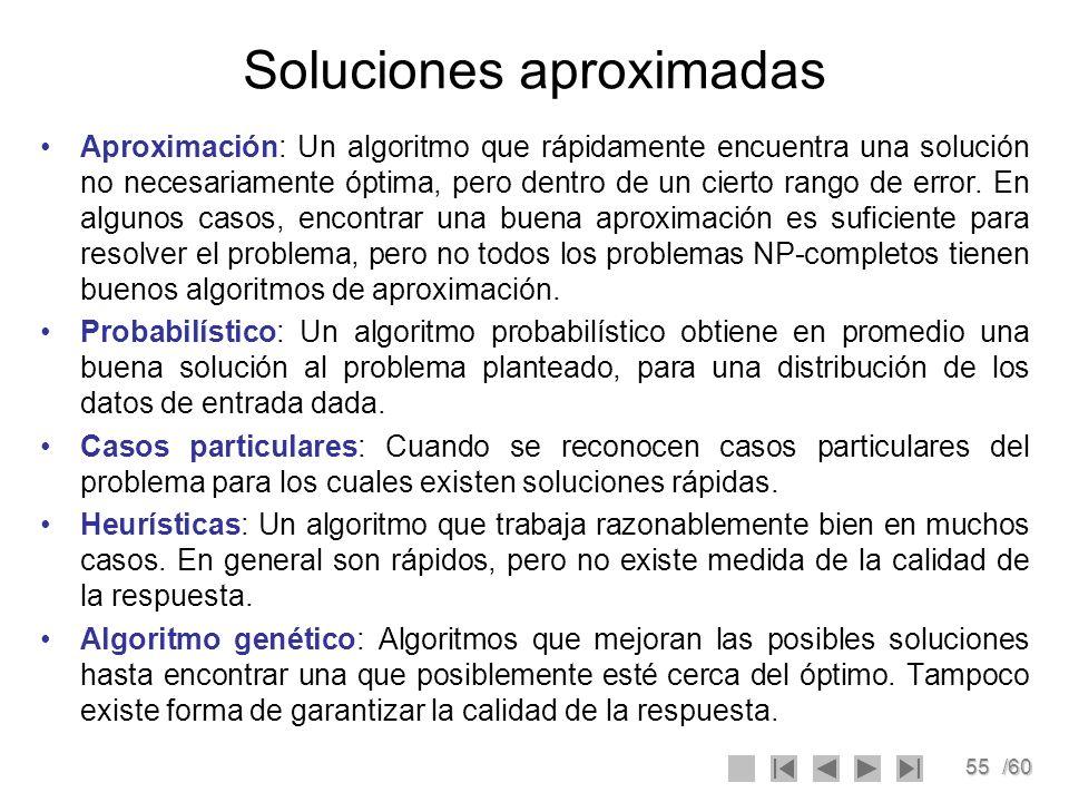 Soluciones aproximadas
