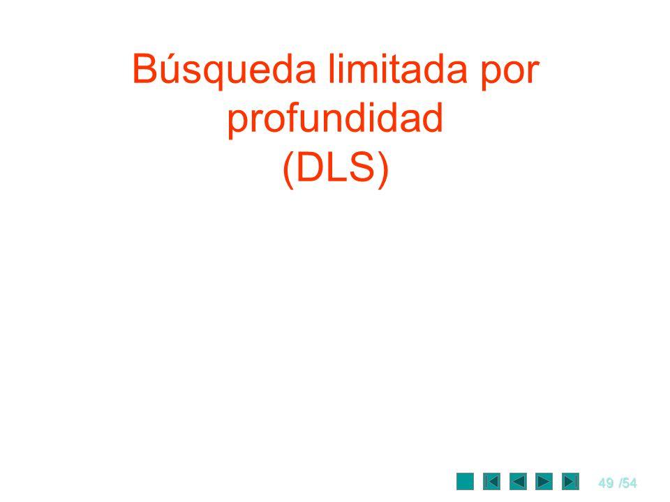 Búsqueda limitada por profundidad (DLS)