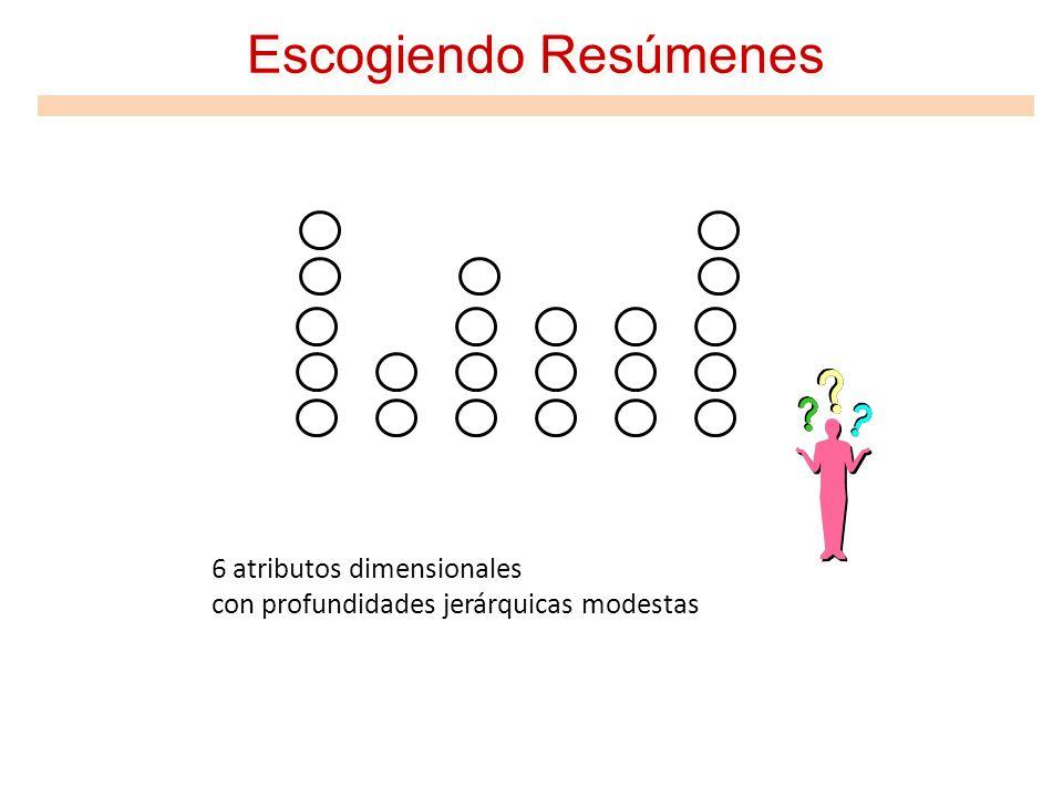 Escogiendo Resúmenes 6 atributos dimensionales