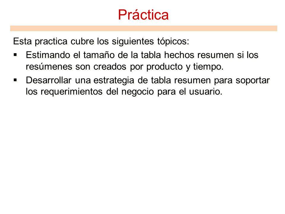 Práctica Esta practica cubre los siguientes tópicos: