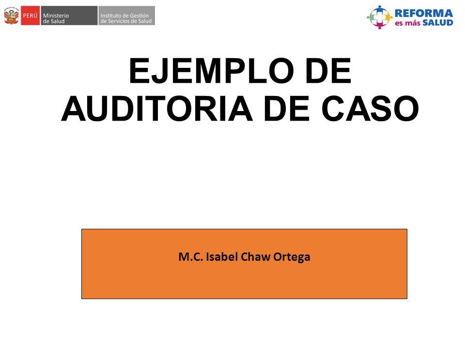 EJEMPLO DE AUDITORIA DE CASO