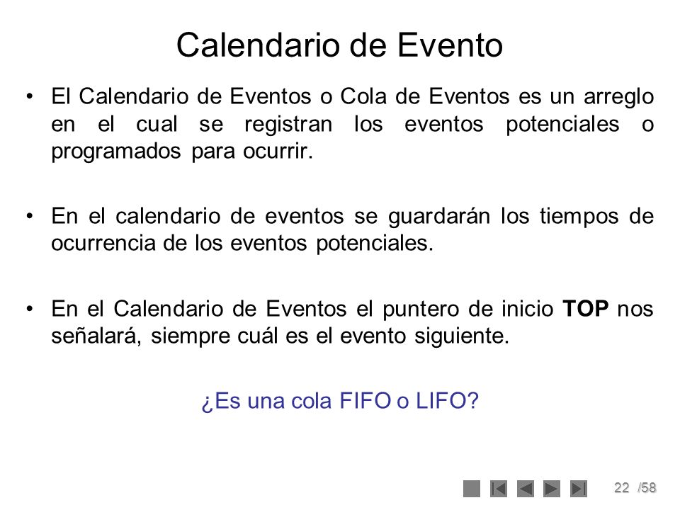 Calendario de Evento