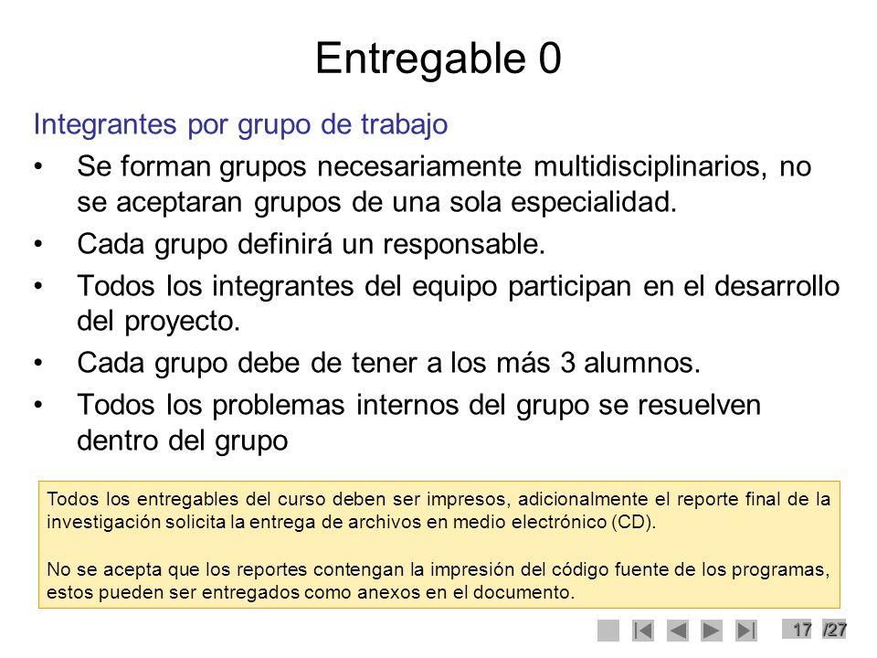 Entregable 0 Integrantes por grupo de trabajo