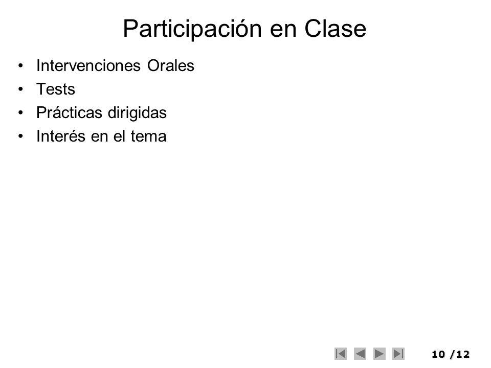 Participación en Clase